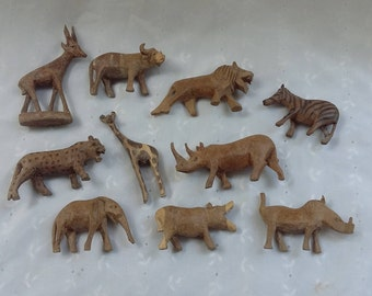 Carved Wooden African Animals