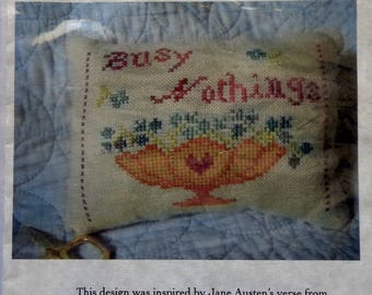 Cross Stitch Pattern | BUSY NOTHINGS Needle CUSHION | Sampler Girl | Tanya Marie Anderson | Jane Austen | Counted Cross Stitch Pattern