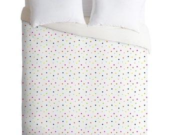 Colorful Polka Dots Twin Queen King Duvet Cover, Guest Bedroom Housewarming Gift Unique Home Decor, Cute Dorm Decor Essentials, Wedding Gift