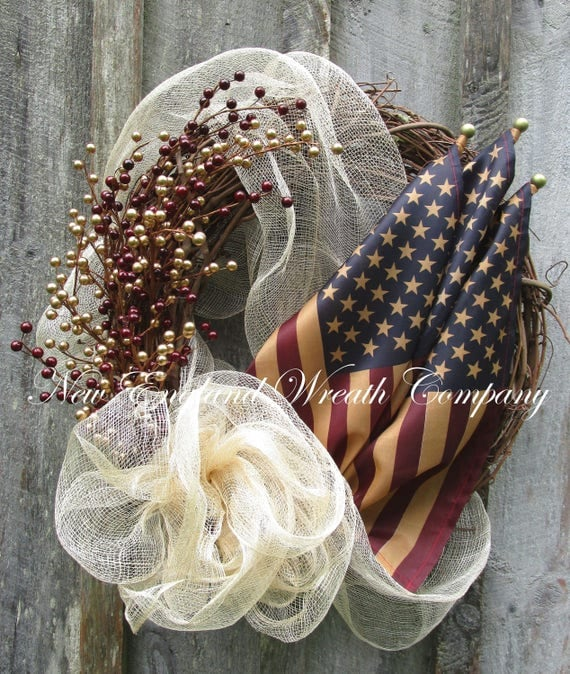 Patriotic Primitive Wreath