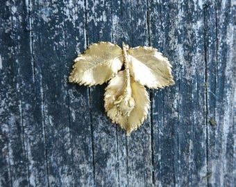 mysterious handmade rose brooch
