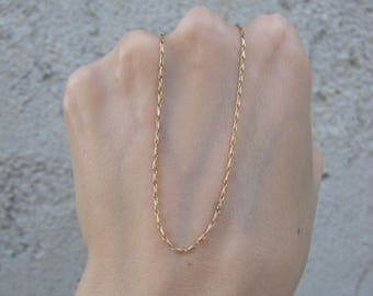 Vintage 18k Gold Chain Necklace