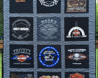 T- Shirt Quilt, YOU PICK FABRICS, Custom made from clothing (Deposit),  Cool Quilts, Upcycled Tees