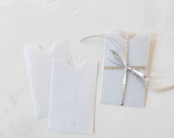 Translucent Clear White Mini Sleeve Envelopes - 25 pc