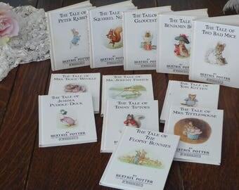 Vintage Beatrix Potter Storybooks Published 1985, Beatrix Potter Small Hardback Set 1-12, Beatrix Potter Peter Rabbit & Friends Little Books
