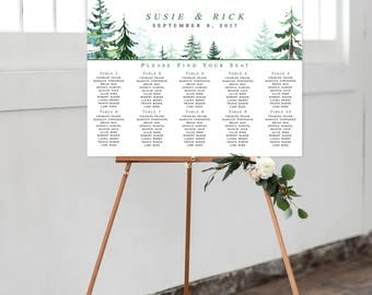 Seating Chart on Foam Core - Rustic Mountain (Style 0028)