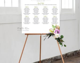 Seating Chart on Foam Core - Peony Love (Style 0034)