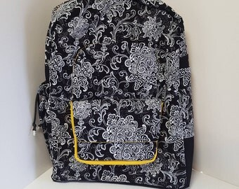 Black Paisley Young Ladys Backpack