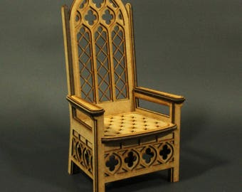 BJD throne 1:6 scale, majestic, regal, royal dolls chair (ready-assembled) NEW DESIGN!