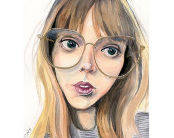 "5""x7"" Custom Portrait Illustration - Watercolor Painting"