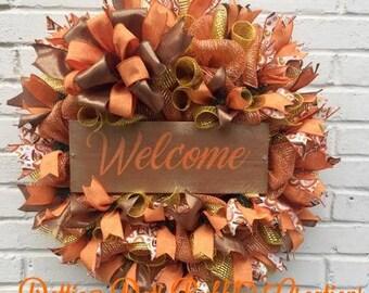 Welcome Fall Wreath, Fall Wreath