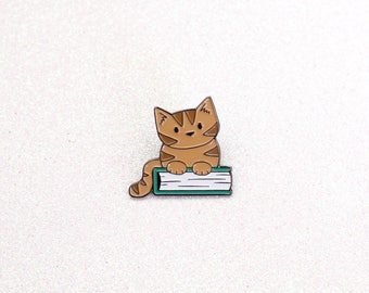Book Cat - Enamel Pin