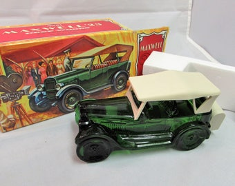 Avon Maxwell Model 23 Automobile Vintage Replica Deep Woods After Shave Decanter