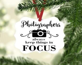 Camera Ornament, Photographer Christmas Tree Ornament, Photography gift, Christmas Tree Ornaments, Wedding Photographer Gift, for Women