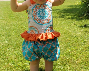 Bailey's Bubble Shorts PDF Pattern Sizes 6-12m to girls 8