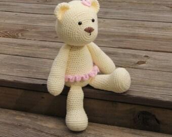 Ballerina Bear, Crochet Ballerina Bear, Toy Ballerina Bear, Crochet Bear, Toy Bear, Crochet Teddy Bear, Stuffed Bear, Mrs Vs Crochet