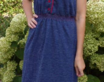 vintage DENIM LOOK KNIT toni petite casual dress S