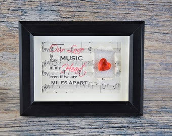 Long distance relationship  boyfriend gifts girlfriend, I miss you, Deployment gift, LDR love, Miles apart, Across the miles, Frame included