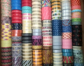 SALE 10 Washi Tapes - PICK 10 Patterns  - U PICK