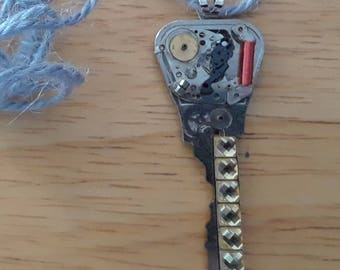 Steampunk key upcycled key