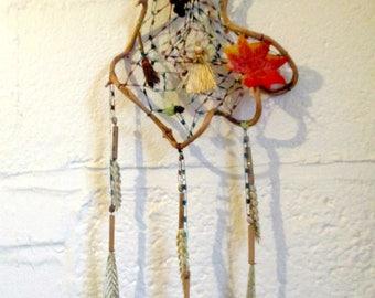 Positively Pagan OOAK Corn Spirit Web. Lammas / Mabon Wheat Harvest Goddess Dreamcatcher.