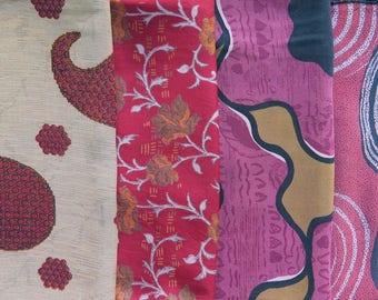 Fat Quarters, Silk Fabric, Sari Silk, FQ 21