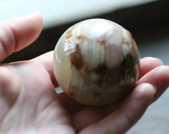 Yellow Onyx Sphere 50 mm #83660