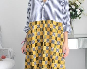 Robe chemise imprimé ethnique