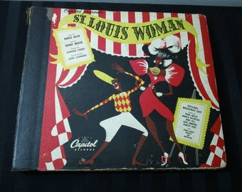 """St.Louis Woman (Original Broadway Cast & Orchestra) - CE 28 - 10"""" shellac 78rpm, five-record set (Capitol Records,1946) ~ Missing one Record"""