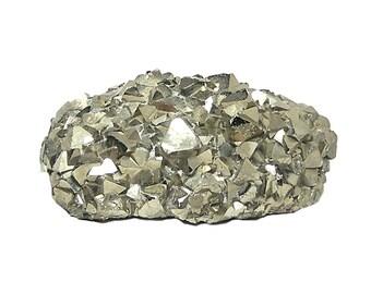 Pyrite BIG Golden Octahedral Form Crystal Cluster Metallic Andes Mineral Specimen from Peru, aka Fools Gold