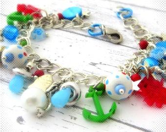 Bracelet, Mermaid, Octopus, anchor, Pearl, Mermaid, mermaid, starfish, sea, ocean, sea star