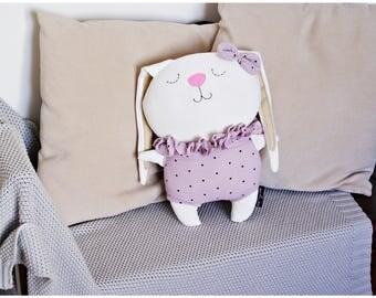 Stuffed Easter Bunny, Bunny Doll COLETTE. Bunny rag doll, rabbit doll, stuffed bunny, plush bunny, stuffed animal, animal rag doll, dolls.