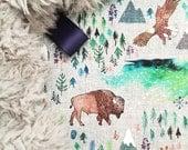 Lovey American Bison. Lovey. Bison Lovey. Eagle Lovey. Buffalo Lovey. Mini Baby Blanket. Security Blanket. Lovie. Minky Lovey.