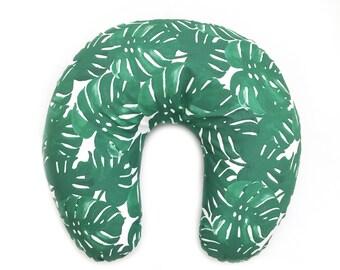 Nursing Pillow Cover Monstera Palm. Nursing Pillow. Nursing Pillow Cover. Palm Nursing Pillow Cover.