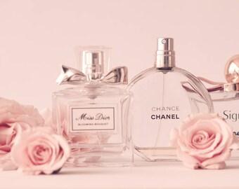 Fashion wall art, Miss Dior print, blush pink wall art, perfume print, blush pink decor, Chanel print, large wall art, canvas art, wall art