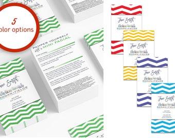 Rodan and Fields Mini Facial Card Download - Chevron Personal Printable Custom Personalized