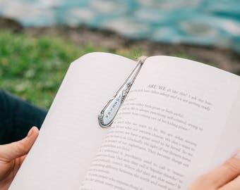 Custom Spoon Bookmark - Future Career - Future Nurse - Future Vet Tech - Imagine -Vintage- Personalized - Silverplated - Hand Stamped