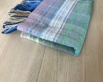 Handwoven Wool Plaid Pastel Blanket No. 5.4