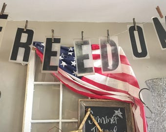 Vintage Acrylic Letters / 'FREEDOM' Marquee Letters / Vintage Marquee Letters / Freedom Sign / Letter Sign