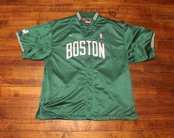 Boston Celtics nike warmup jacket pullover pre-game top NBA basketball XL