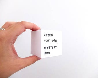 Retro Toy Pin Mystery Box: contains ONE pin worth at least 29USD