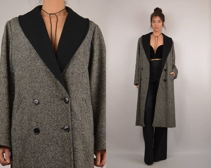 Vintage Tweed Long Coat