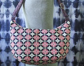Geometric Hobo Bag- Pink and Purple Bag- Handmade Purse- Shoulder Bag- Crossbody Bag- Hobo Bag- Geometric Purse- Funky Purse- Unique Bag