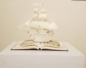 Sail Away Book Sculptures