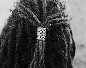 2 Large Tibetan Silver Dreadlock Beads Dread Tie 17mm Hole (0.67 inches)