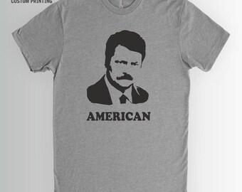 Ron Swanson Shirt | Parks & Rec, Ron Swanson, American