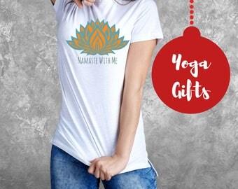 Cute Yoga Shirt, Mindfulness Gift, Clothing Gifts, Namaste Shirt, Yoga Gifts, Namaste With Me, Spiritual Gift, Bliss