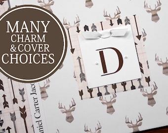 Personalized Baby Book | Deer Baby Memory Book | Boy Baby Book | Deer Antlers and Arrows