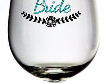Bride decal, bride vinyl decal, bride, wedding gift, bride to be, wedding decal, bridal party decal, wedding party decal, brides, wedding