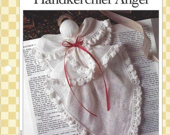 Handkerchief Angel Crochet Pattern, Christmas Angel Ornament, Religious Decor, Vanna's Afghan & Crochet
